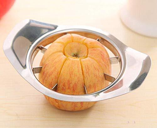 2140 Stainless Steel Apple Cutter Slicer with 8 Blades and Handle - DeoDap