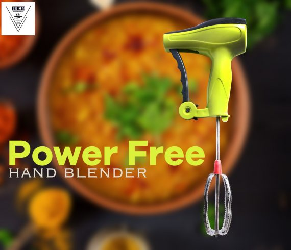 0723 Power-Free Manual Hand Blender With Stainless Steel Blades - DeoDap