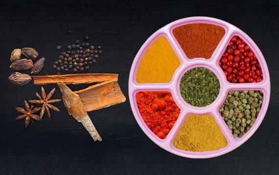 2133 Mini Spice Box/Masala Dabba with 7 Compartments - DeoDap