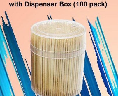 0847 Simple Wooden Toothpicks with Dispenser Box (100 pack) - DeoDap