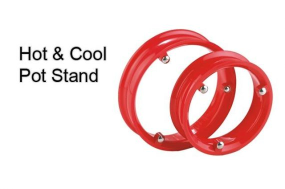 0816 Stainless Steel Single Ring pot Stand (2 pack) - DeoDap