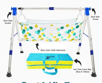 1210 Baby Portable Premium Folding Swing Cradle with Carry Bag - DeoDap