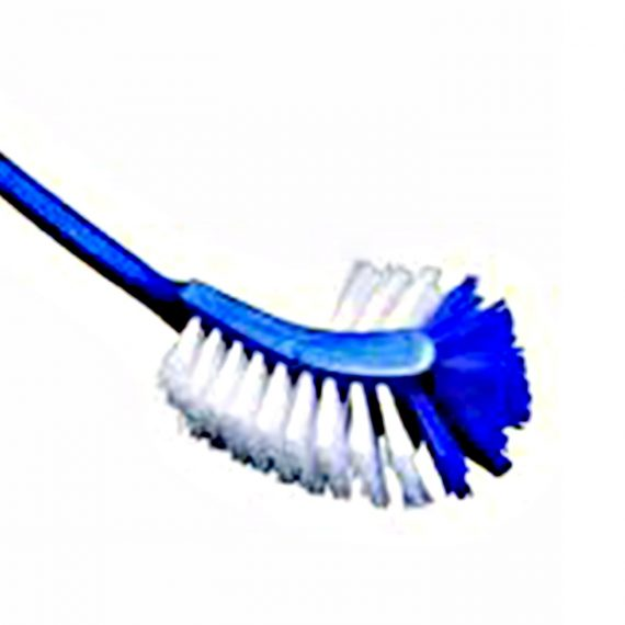 1292 2 In 1 Double Hockey Stick Shape Toilet Brush - DeoDap