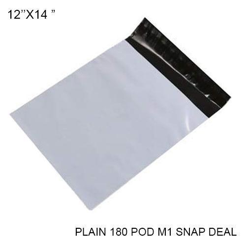 0924 Tamper Proof Courier Bags(12X14 PLAIN 180 POD M5 SNAP DEAL) - 100 pcs - DeoDap