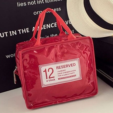 12o'clock Fashion Insulated Lunch Bag (Red)