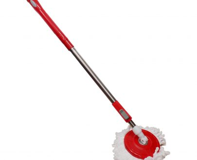 0842 Home Cleaning - Stainless Steel 360 Degree Rotating Pole Microfiber Mop Rod Stick - DeoDap
