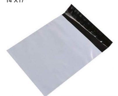 0908 Tamper Proof Courier Bags(14X17 PLAIN 180 POD M1) - 100 pcs - DeoDap