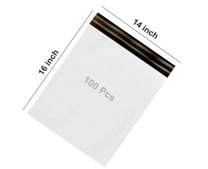 0929  POD pouch Secure Tamper Proof Courier Bags,100 pcs (14 x 16 Inch) - DeoDap
