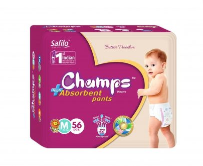 0953 Premium Champs High Absorbent Pant Style Diaper Medium Size, 56 Pieces (953_Medium_56) - DeoDap