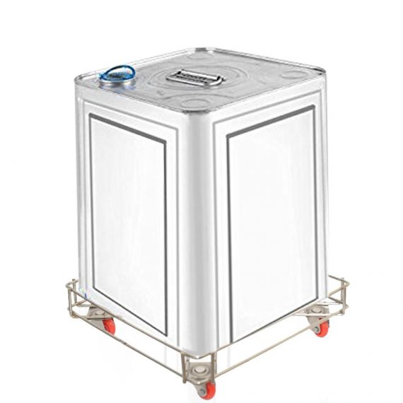 3021 High Grade Stainless Steel Oil Container Multi Purpose Trolley - DeoDap
