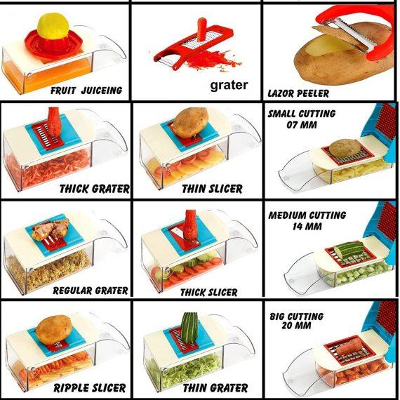 0173 Kitchen Multipurpose Slice&Dice and Potato Slicer - DeoDap