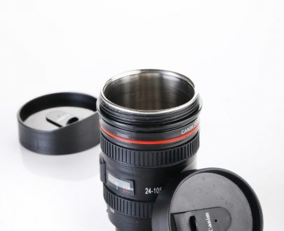 0720 Camera Lens Shaped Coffee Mug Flask With Lid - DeoDap