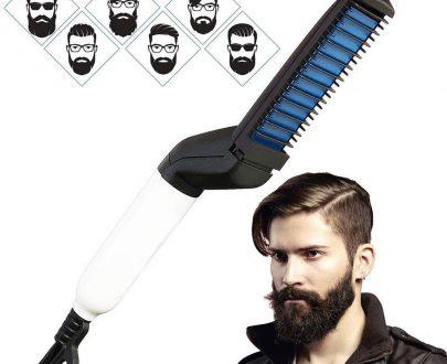 0348 Men's Beard and Hair Curling Straightener (Modelling Comb) - DeoDap