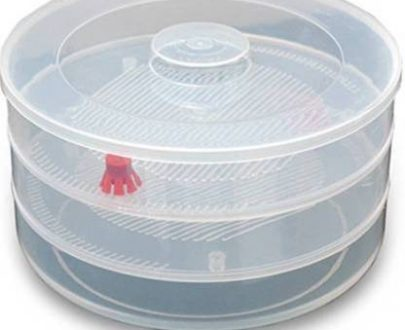 0093 Plastic 3 Compartment Sprout Maker, White - DeoDap