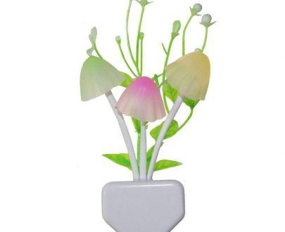 0206 Night Lamps White Flower Pot Color Changing Light & Mushrooms Light Sensor LED Decorative Night Lamp Night Lamp - DeoDap