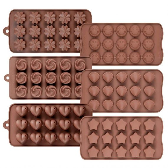0742_Silicon Chocolate Molds, Candy Making Silicone Molds, Mini Baking Molds (Random Design 1 unit) - DeoDap