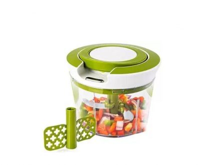 0079 Manual 2 in 1 Handy smart chopper for Vegetable Fruits Nuts Onions Chopper Blender Mixer Food Processor - DeoDap