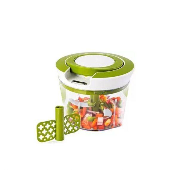 0079 Manual 2 in 1 Handy smart chopper for Vegetable Fruits Nuts Onions Chopper Blender Mixer Food Processor - DeoDap