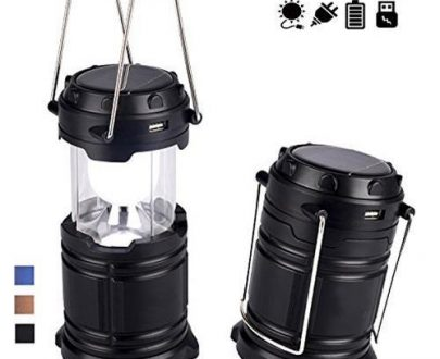 0874 Rechargeable Camping Lantern LED Solar Emergency Light Bulb - DeoDap
