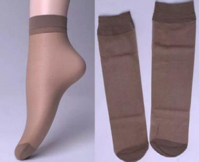1213 (pack of 5) Soft Transparent Women's Ankle Length Silk Socks - DeoDap
