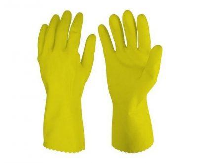 0652 - Cut Glove Reusable Rubber Hand Gloves (Yellow) - 1 pc - DeoDap