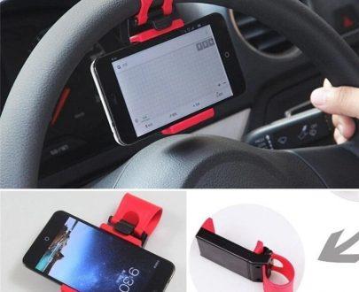 0268 Universal Car Steering Wheel Phone Holder - DeoDap