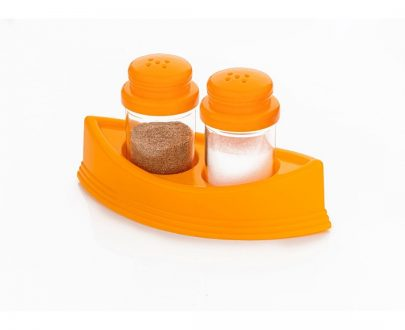 0148 Plastic Salt & Pepper Shakers/Masala Dabbi with Stand/Salt and Pepper Set for Dining Table - DeoDap