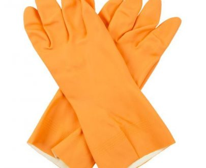 0683 - Flock Premium Reusable Rubber Hand Gloves (Orange) - 1pc - DeoDap