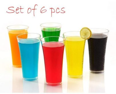 0630 Stylish look Juicy Glass, Transparent Glasses Set 300ml (6pcs) - DeoDap