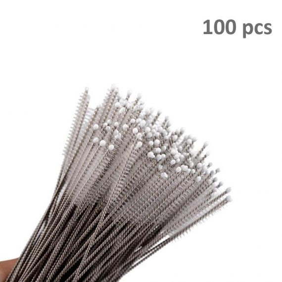 0578 Stainless Steel Straw Cleaning Brush Drinking Pipe, 23mm 1 pcs - DeoDap