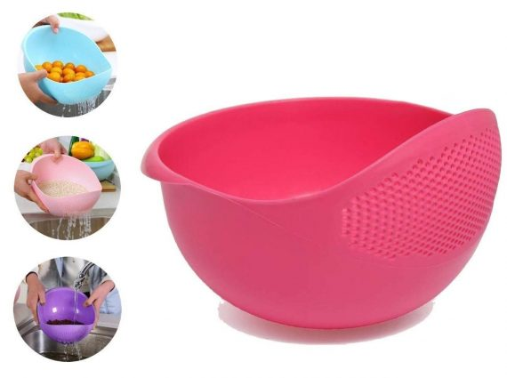 2062 Plastic Heavy Rice Bowl Strainer/Colander - DeoDap