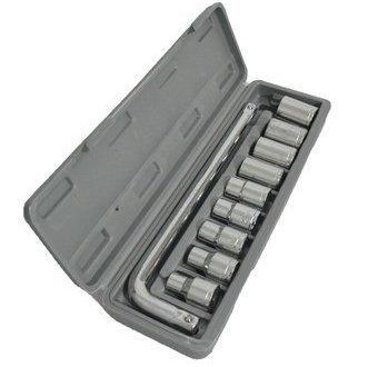 0407 -10 pc, 6 pt. 3/8 in. Drive Standard Socket Wrench Set - DeoDap