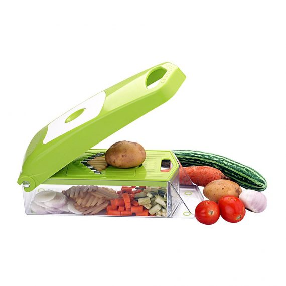 2025 Maitri Plastic 12-in-1 Jumbo Manual Vegetable Grater, Chipser and Slicer - DeoDap