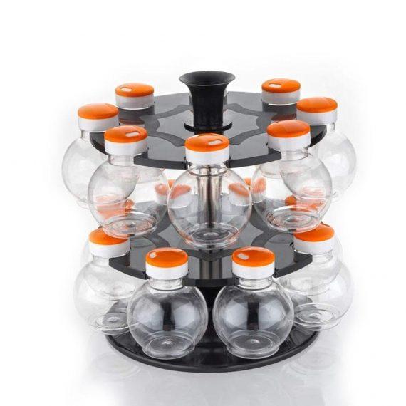 2015_Multipurpose Revolving Plastic Spice Rack Set (16pcs) - DeoDap