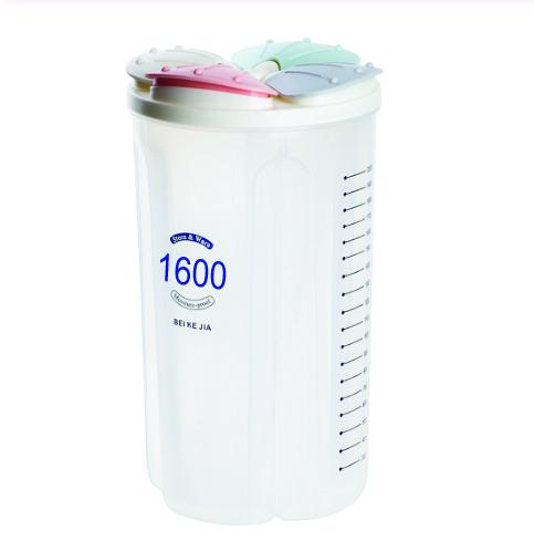 0788 4 in 1 Transparent Air Tight Storage Dispenser Container (1600 ml) - DeoDap