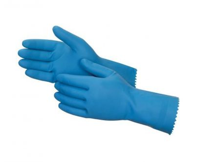 0656 - Cut Glove Reusable Rubber Hand Gloves (Blue) - 1 pc - DeoDap