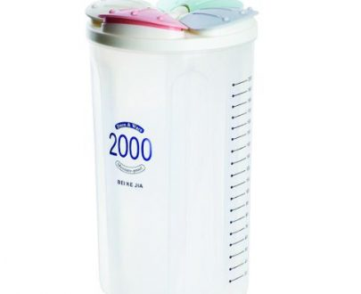 0766 Kitchen Storage - Transparent Sealed Cans/Jars/Storage Box 4 Section - DeoDap