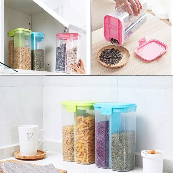 5 Pcs 2 Section 1500 Ml Storage Container
