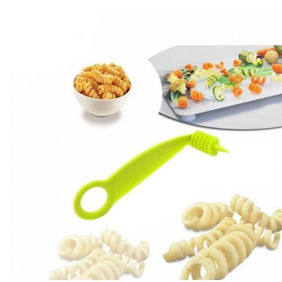 2013 Kitchen Plastic Vegetables Spiral Cutter / Spiral Knife / Spiral Screw Slicer - DeoDap