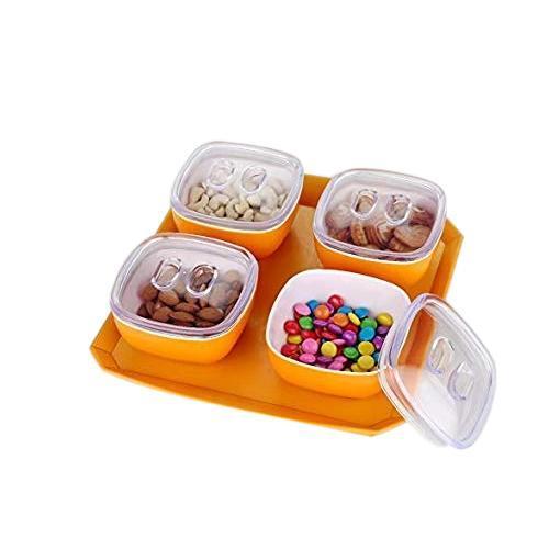 0075 Dryfruit Box, Chocolates Box, Sweet Box, Mouth Freshener Box, Indian Mukhwas Box (Set of 4, Green) - DeoDap