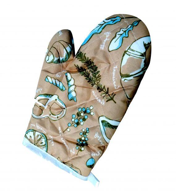 0675 Heat Resistant Non-Slip Oven Mitts/Gloves (1pc) - DeoDap