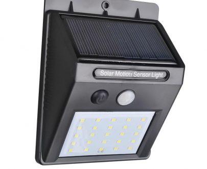 0213 Solar Security LED Night Light for Home Outdoor/Garden Wall (Black) (20-LED Lights) - DeoDap