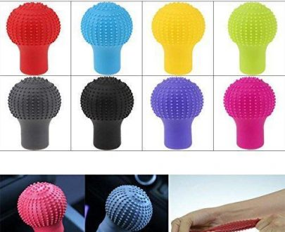 0278 Anti-Scratch Universal Fit Silicon Gear Shift Knob Protective Cover - DeoDap