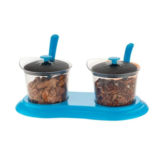 0608 Multipurpose Dining Set Jar and tray holder, Chutneys/Pickles/Spices Jar - 2pc - DeoDap