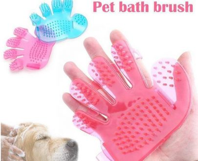 0172 Rubber Pet Cleaning Massaging Grooming Glove Brush - DeoDap