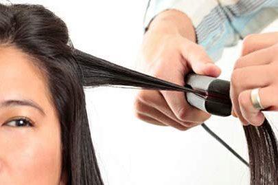 1215 Mini Portable Electronic Hair Straightener and Curler - DeoDap