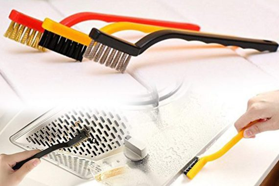 0184 -3 Pc Mini Wire Brush Set (Brass, Nylon, Stainless Steel Bristles) - DeoDap