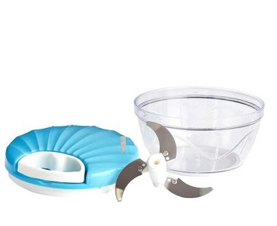 2014_Vegetable Handy Chopper with 3 Blades, 500 ml (Multicolor) - DeoDap