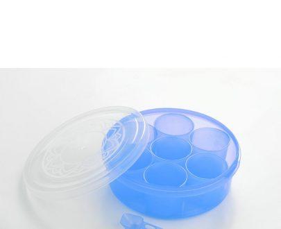 2026 Maitri Plastic Round Spice Box / Masala Dabba - Spice Jar (7pcs) - DeoDap
