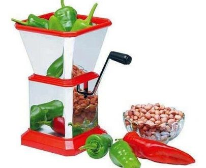 0084 Stainless Steel Vegetable Cutter Chopper (Chilly Cutter) - DeoDap